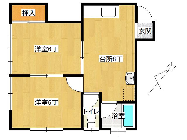 アパート 弘前市取上4丁目「グレージュレジデンス」202号室 メイン画像