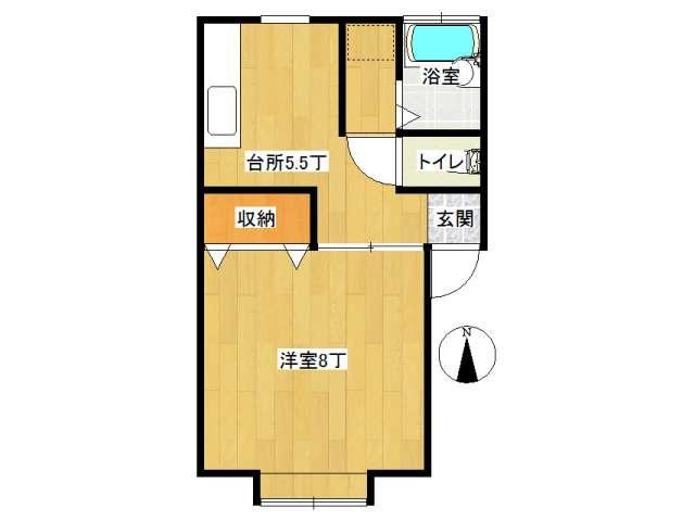 不動産詳細-アパート 弘前市石渡3丁目「メナハウス」1DK