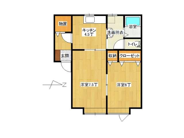アパート 弘前市城東1丁目「ピアチェーレ・ウーノ」105号室 メイン画像