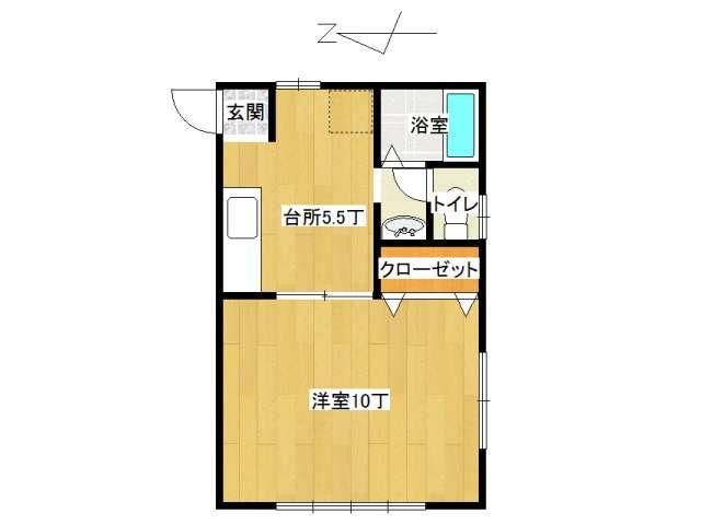 アパート 弘前市宮川3丁目「フレンドパーク」105号室 メイン画像