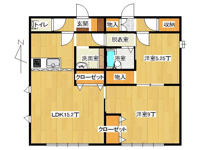 アパート 弘前市堅田4丁目「おしゃれハウス2」A101号室 メイン画像