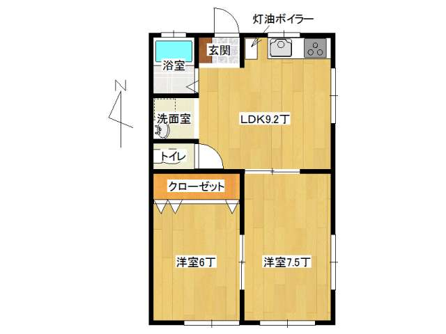 アパート 弘前市百石町「ファーストピュア」B201号室 メイン画像