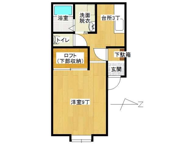 不動産詳細-アパート 弘前市早稲田3丁目「メゾン ウ・ララ」1K