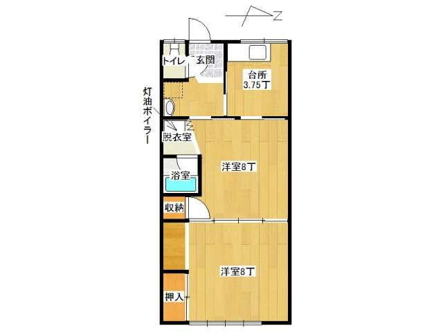アパート 弘前市石渡2丁目「土谷アパート」2号室 メイン画像