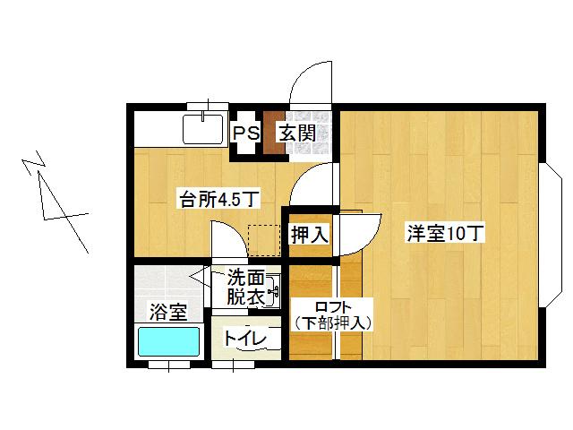 アパート 弘前市高田2丁目「フリーダムスペースB棟」105号室 メイン画像