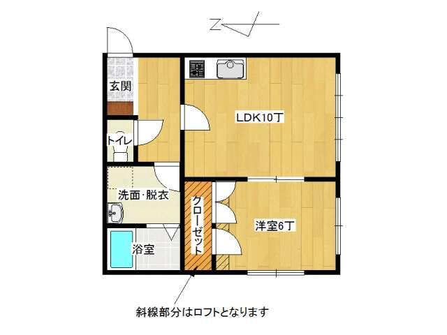 アパート 弘前市田園1丁目「メゾンピュア」201号室 メイン画像