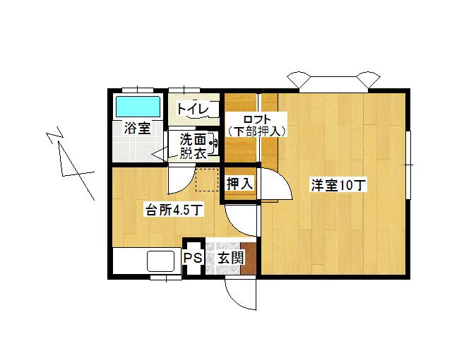 アパート 弘前市高田2丁目「フリーダムスペースB棟」203号室 メイン画像