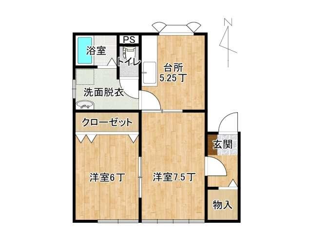 アパート 弘前市早稲田2丁目「ファインステージ」206号室 メイン画像