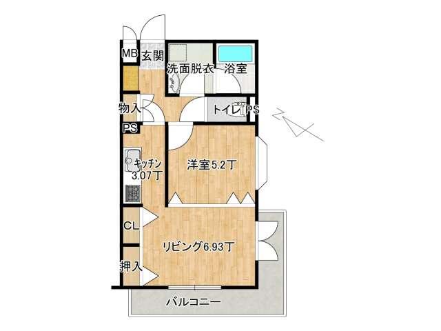 マンション 弘前市富田3丁目「ロワイヤルユウ弘前富田」204号室 メイン画像
