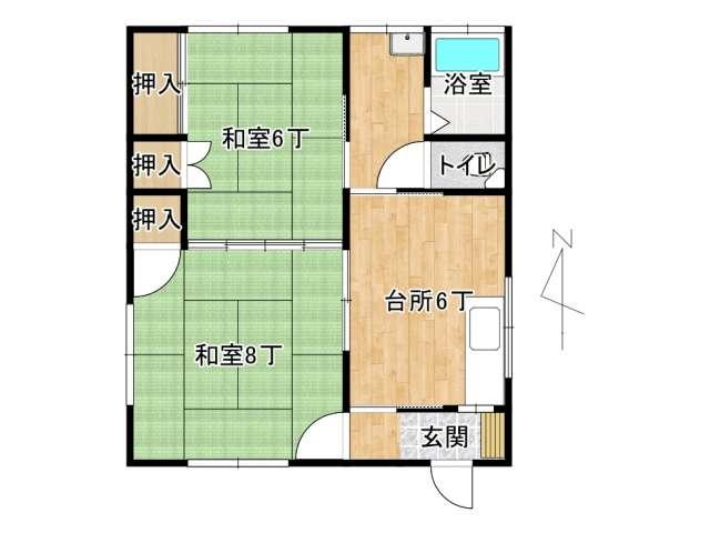 アパート 弘前市城東北1丁目「めぐみ荘」1号室 メイン画像