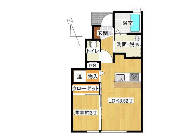アパート 弘前市田園1丁目「サン・フレッシュ」106号室 メイン画像