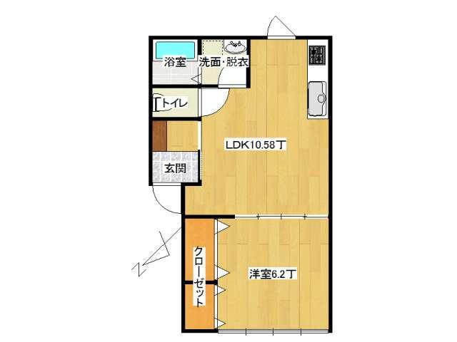 アパート 弘前市早稲田3丁目「ピュアハウスC」201号室 メイン画像