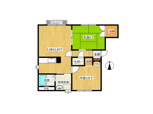 アパート 弘前市城東北2丁目「クレール」101号室 メイン画像