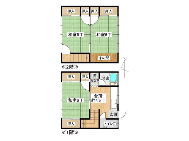 アパート 弘前市城東1丁目「第二あぱーと寿」7号室 メイン画像