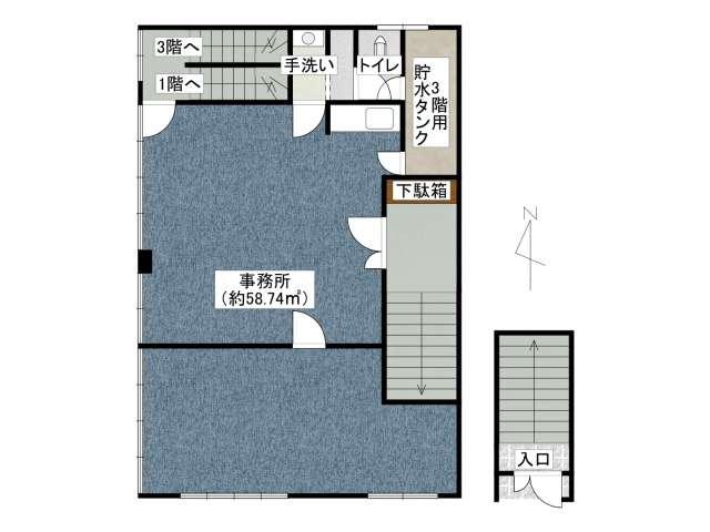 事務所 弘前市東長町「山内ビル」 メイン画像