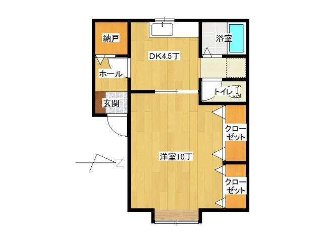 アパート 弘前市城東1丁目「ピアチェーレ・ドゥエ」202号室 メイン画像