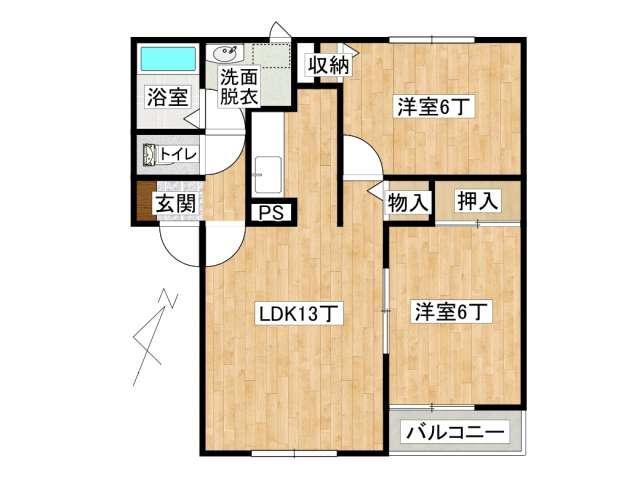 アパート 弘前市田園1丁目「ガーデンパレス田園A棟」102号室 メイン画像