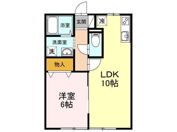 アパート 青森市桂木3丁目 セジュールSE2秀 1LDK