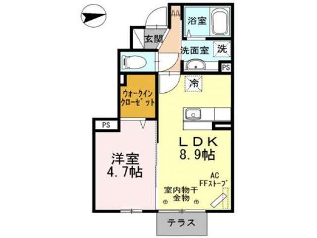 アパート 青森市石江高間 クレア・ド・ルーン 1LDK