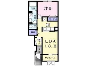 アパート 青森市三内稲元 コンフォート 1LDK