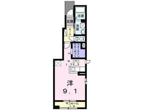 アパート 青森市久須志3丁目 アイナ 1R