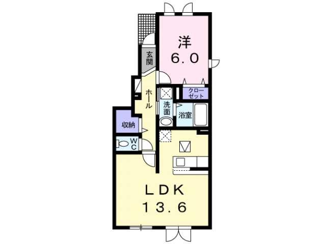 アパート 青森市金沢4丁目 モンヴィータ 1LDK