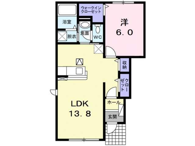 アパート 青森市古館大柳 サンウィーロ 1LDK