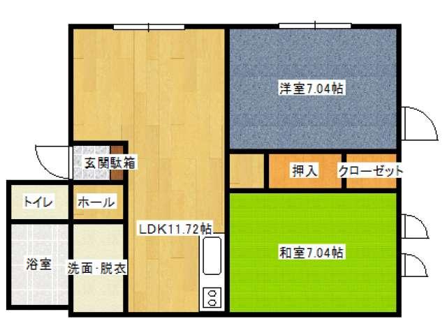 アパート 青森県 青森市 中央4丁目 コーポはし 2LDK