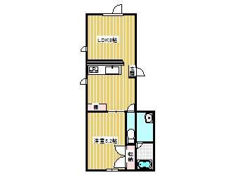 アパート 青森県 青森市 久須志4丁目 RyoハイツKA 1LDK