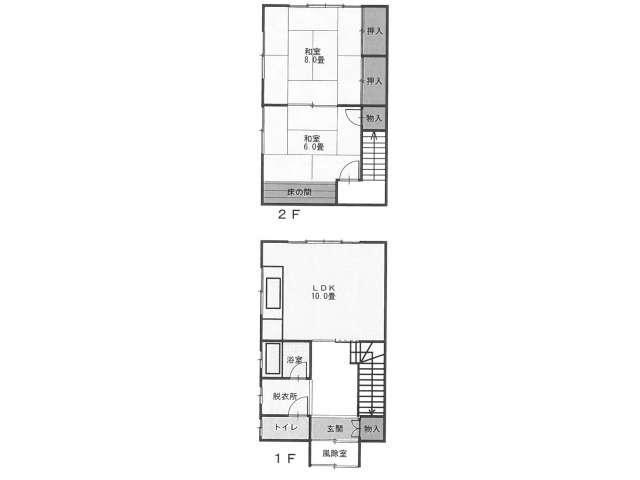 アパート 青森県 青森市 浪館字平岡66-1 倉内アパート 2LDK