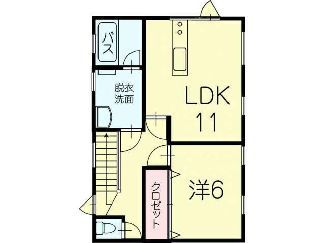 アパート 青森県 青森市 桂木2丁目1-13 インディ2F 1LDK