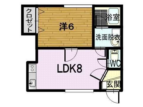 アパート 青森県 青森市 浪岡福田一丁目 コーポラスパークタウンC 1LDK