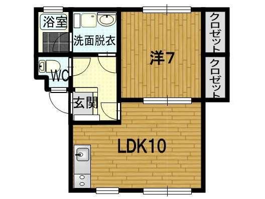 アパート 青森県 青森市 浪岡浪岡字平野 パステル33 1LDK