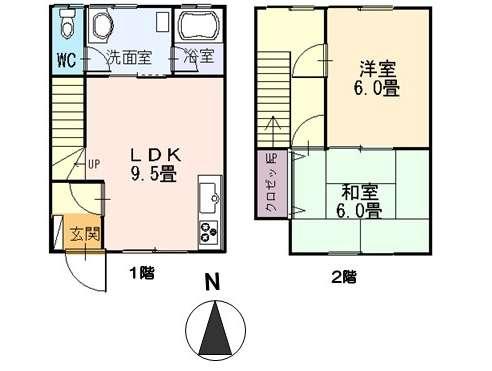 アパート 青森県 青森市 浪岡浪岡若松 グランデールナカヤマ 2LDK