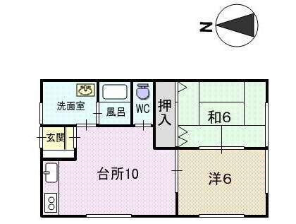 アパート 青森県 青森市 浪岡杉沢字井ノ下 ミジョン雪田B 2LDK