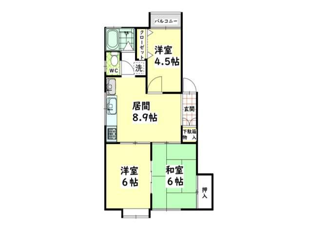 アパート 青森県 青森市 安田字近野418-24 アーバンホームズ第1安田  3LDK