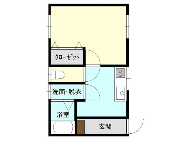 アパート 弘前市北園二丁目2-3 丸哲荘4号館 1K