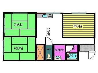 アパート 黒石市青山123-6 ラ・シェール木村 3DK