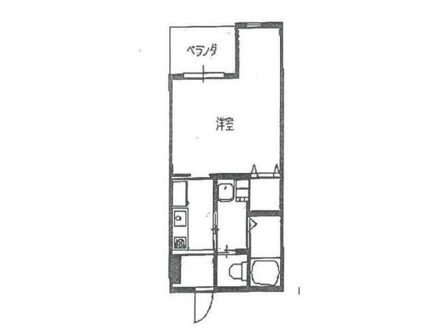 アパート 岩手県 盛岡市 津志田西1丁目 コスモハイツ八番地B 1K