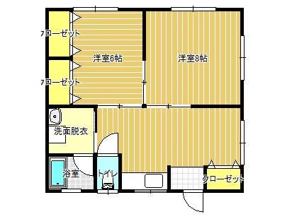 アパート 秋田県 潟上市 天王字上北野 テイクイットイージィB 2LDK