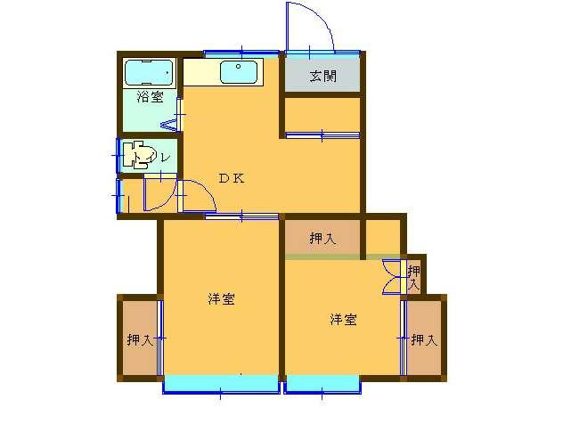 アパート 秋田県 湯沢市 清水町 コーポ今野 2K