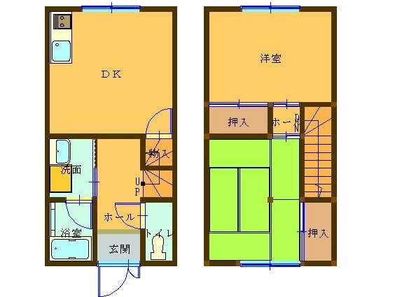 アパート 秋田県 湯沢市 元清水1丁目 コーポタカハシⅠ 2DK