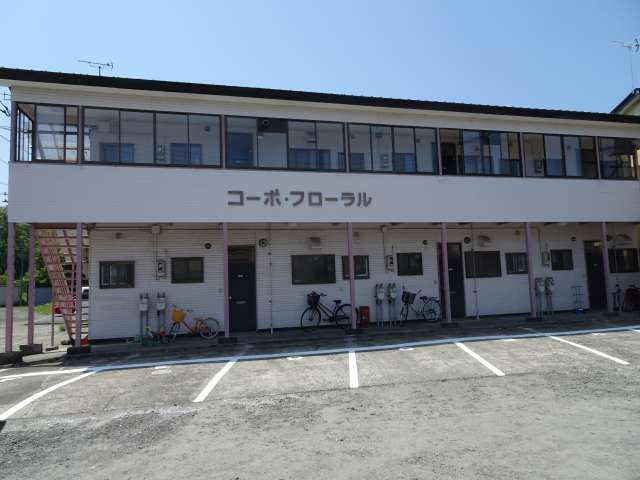 アパート 秋田県 能代市 鳥小屋 コーポフローラル 2DK