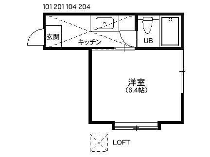 アパート 秋田県 秋田市 広面字推子 ルテター壱番館 1K