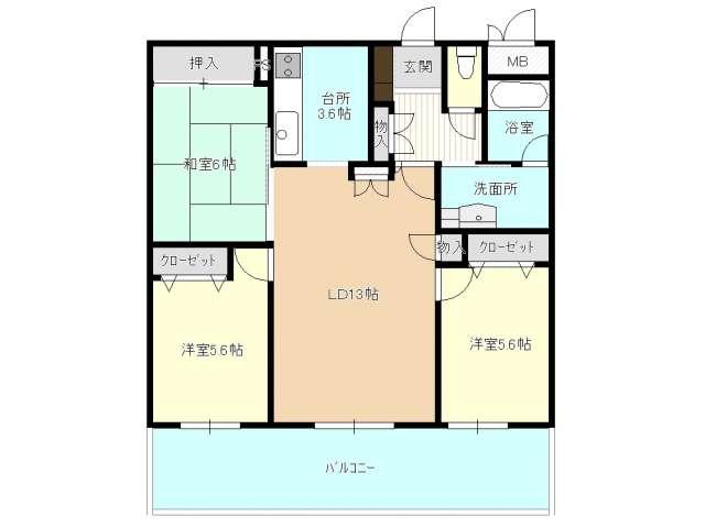 マンション(分譲) 青森県 青森市 橋本3-14-14 ポレスター平和公園 3LDK