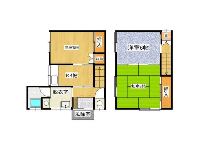 アパート 青森県 青森市 字平岡 中川荘 3K