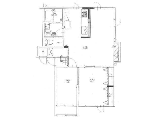 アパート 青森県 青森市 青葉二丁目 アメニティパレス青葉 2LDK