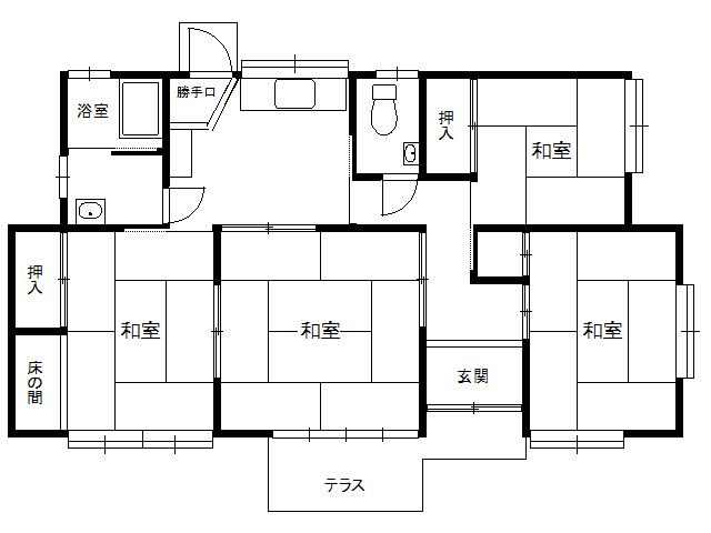 戸建 青森県 八戸市 是川1丁目 是川貸家 4DK