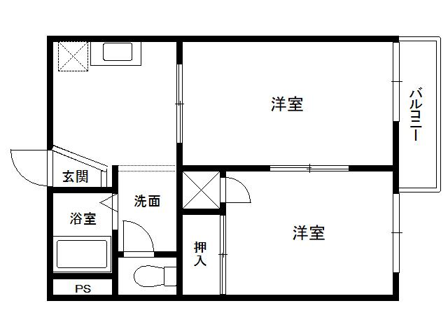 アパート 青森県 八戸市 売市1丁目 プロムナード 2K