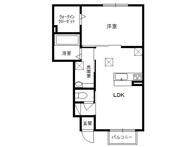 アパート 青森県 八戸市 根城3丁目 (仮)WIT根城3丁目 1LDK